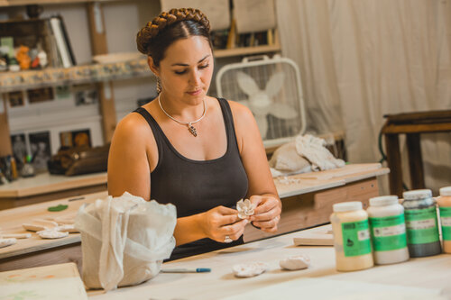 Image: woman working on crafts - Business Basics: Turn Your Ideas into Action workshop - April 21, 2020 workshop at West Business Development Center, Fort Bragg, California