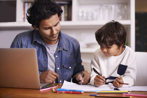 Father and son: teaching at home - West Business Development Center