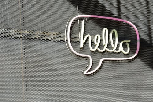 Hello sign - West Business Development Center
