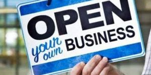 "Image: ""Open Your Own Business"" sign"