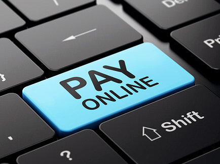 """Image: Keyboard button labeled """"Pay Online"""" - West Business Development Center"""
