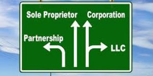 Image: road sign for various business entities